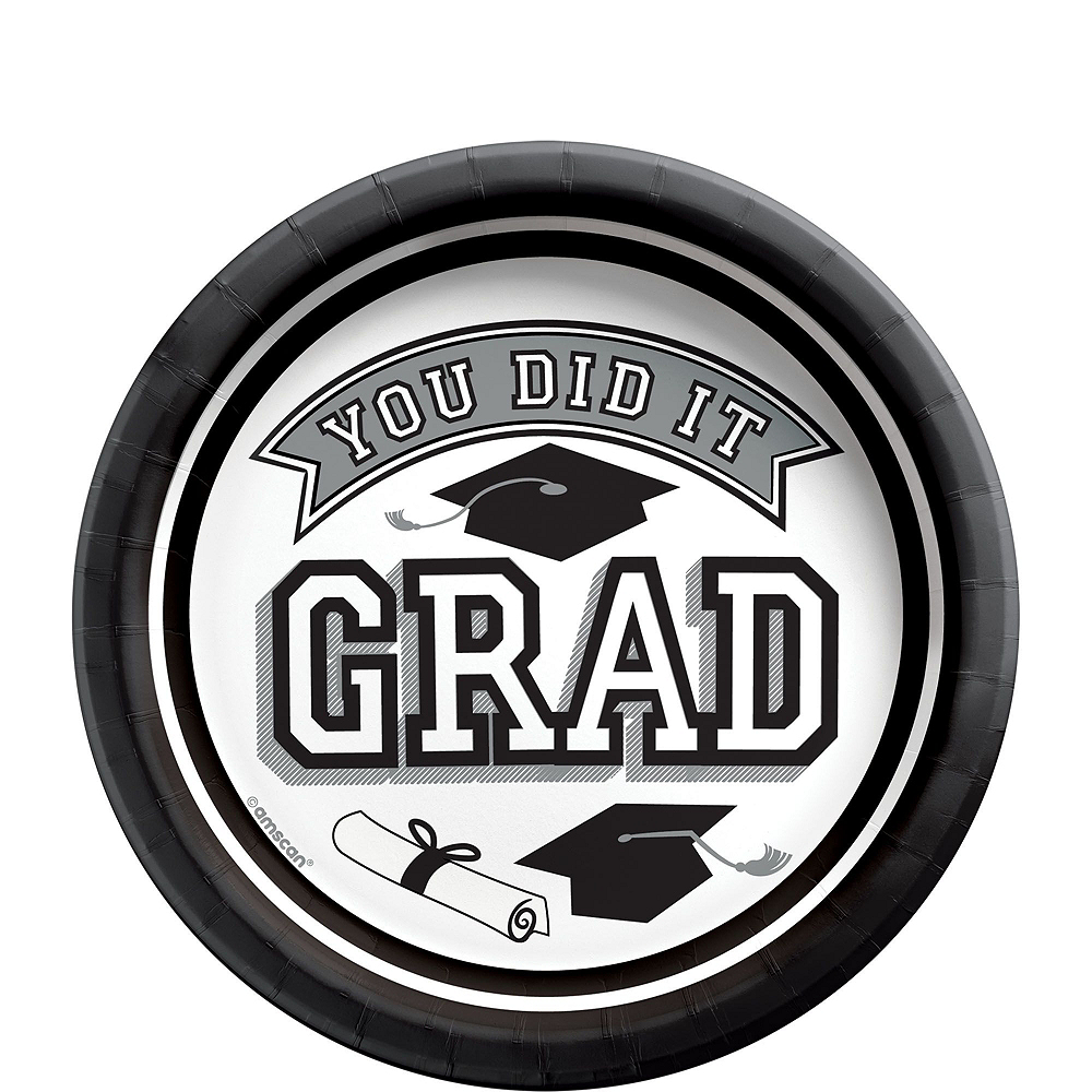 Super Congrats Grad White Graduation Party Kit for 54 Guests Image #2