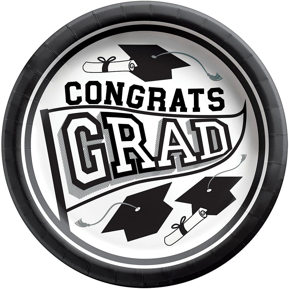 Super Congrats Grad White Graduation Party Kit for 54 Guests Image #3