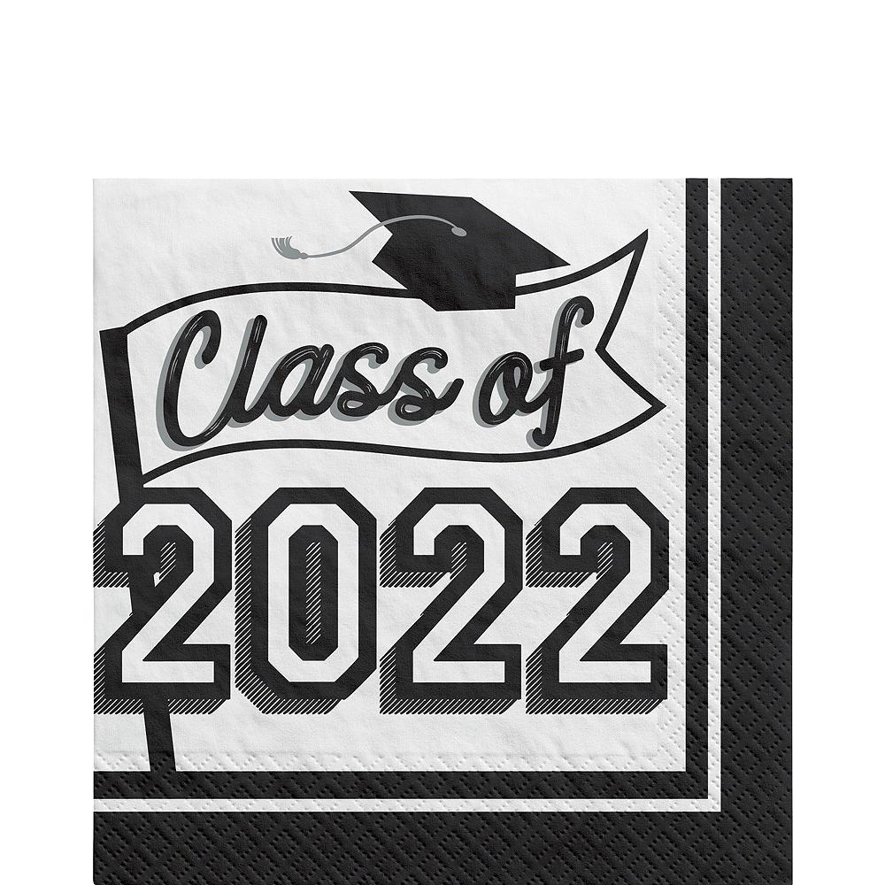 Super Congrats Grad White Graduation Party Kit for 54 Guests Image #5