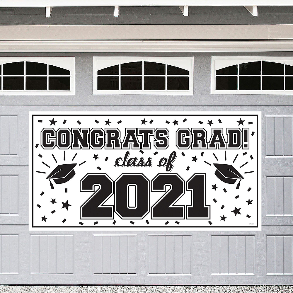 Congrats Grad White Graduation Decorating Kit Image #3