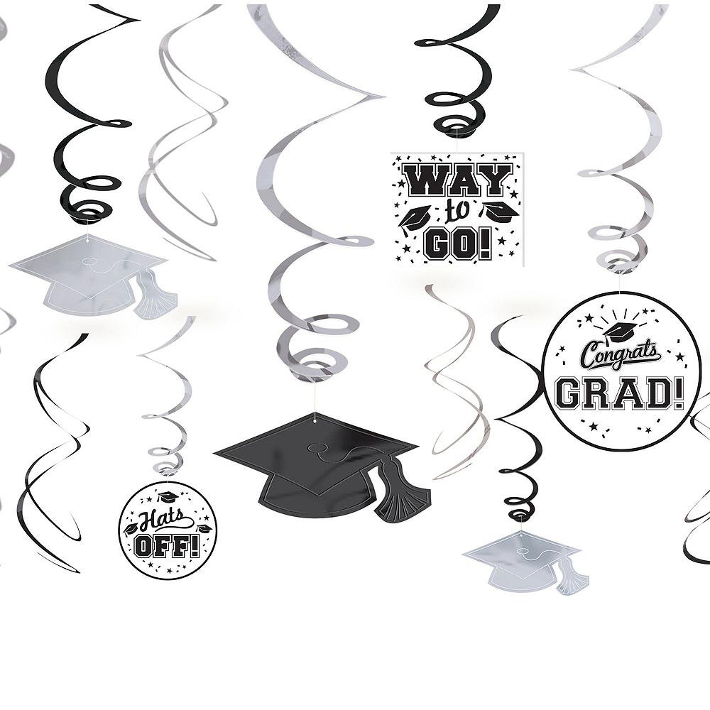 Congrats Grad White Graduation Decorating Kit Image #4