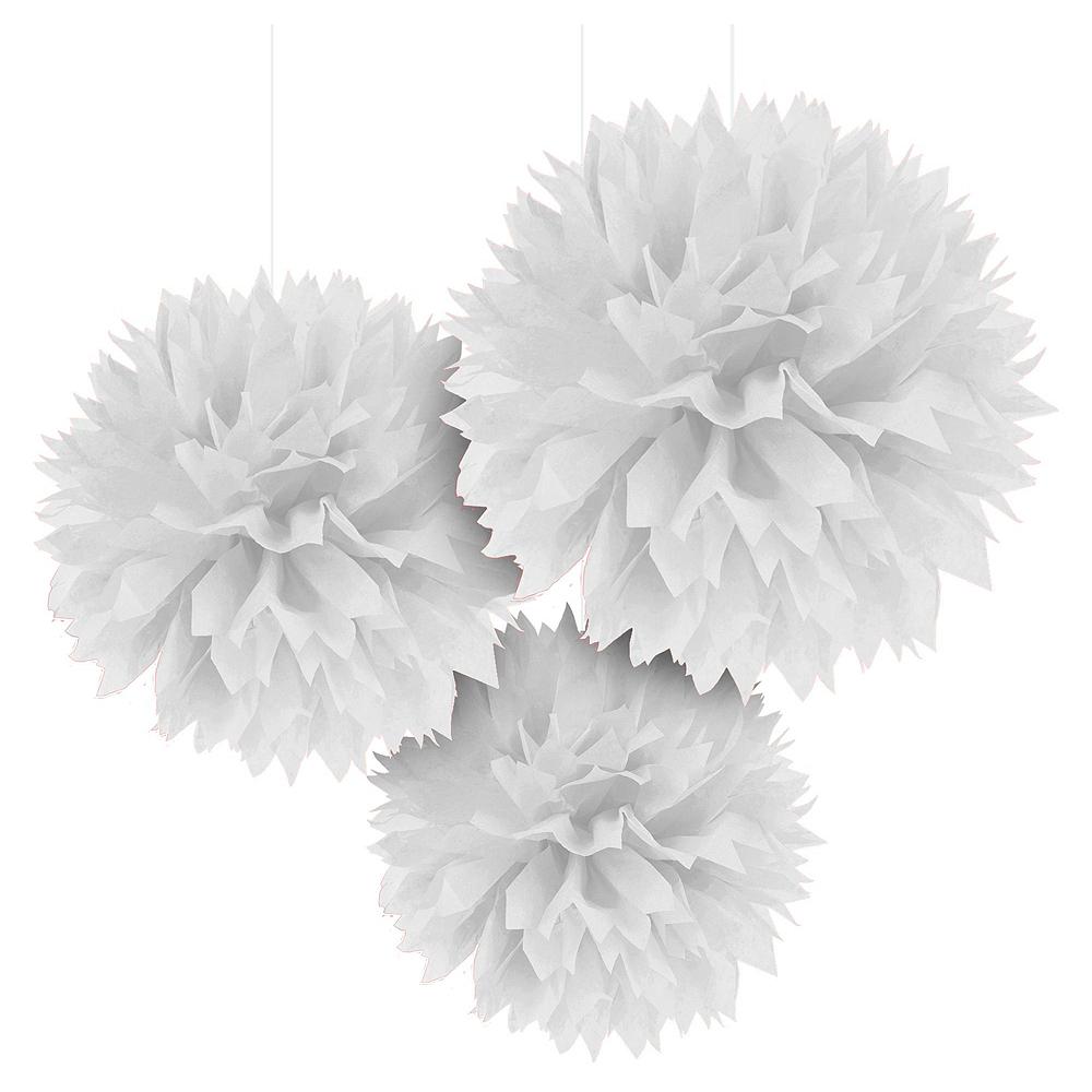 Congrats Grad White Graduation Decorating Kit with Balloons Image #4