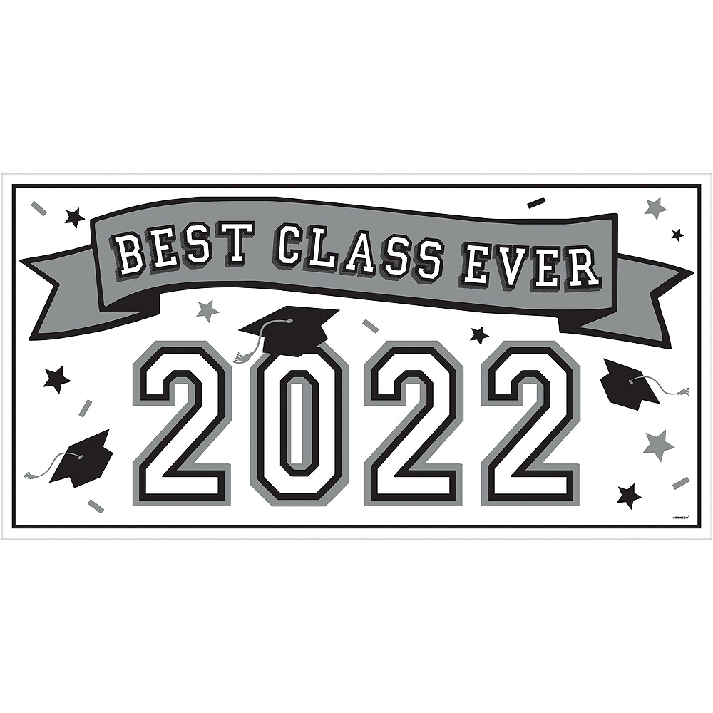 Congrats Grad White Graduation Deluxe Decorating Kit with Balloons Image #2