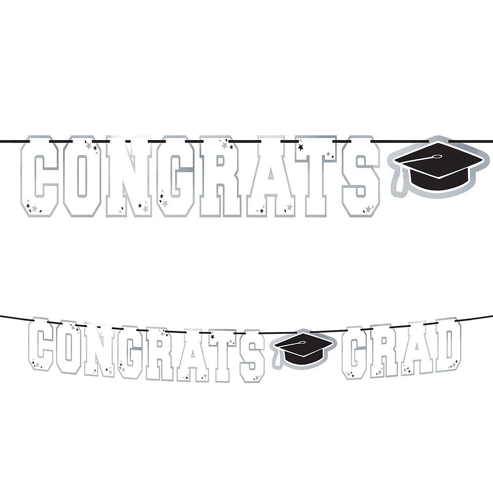 Congrats Grad White Graduation Hanging Decorations Kit Image #2