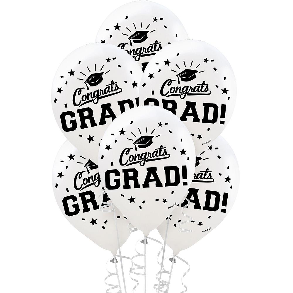 Congrats Grad White Graduation Outdoor Decorations Kit Image #2
