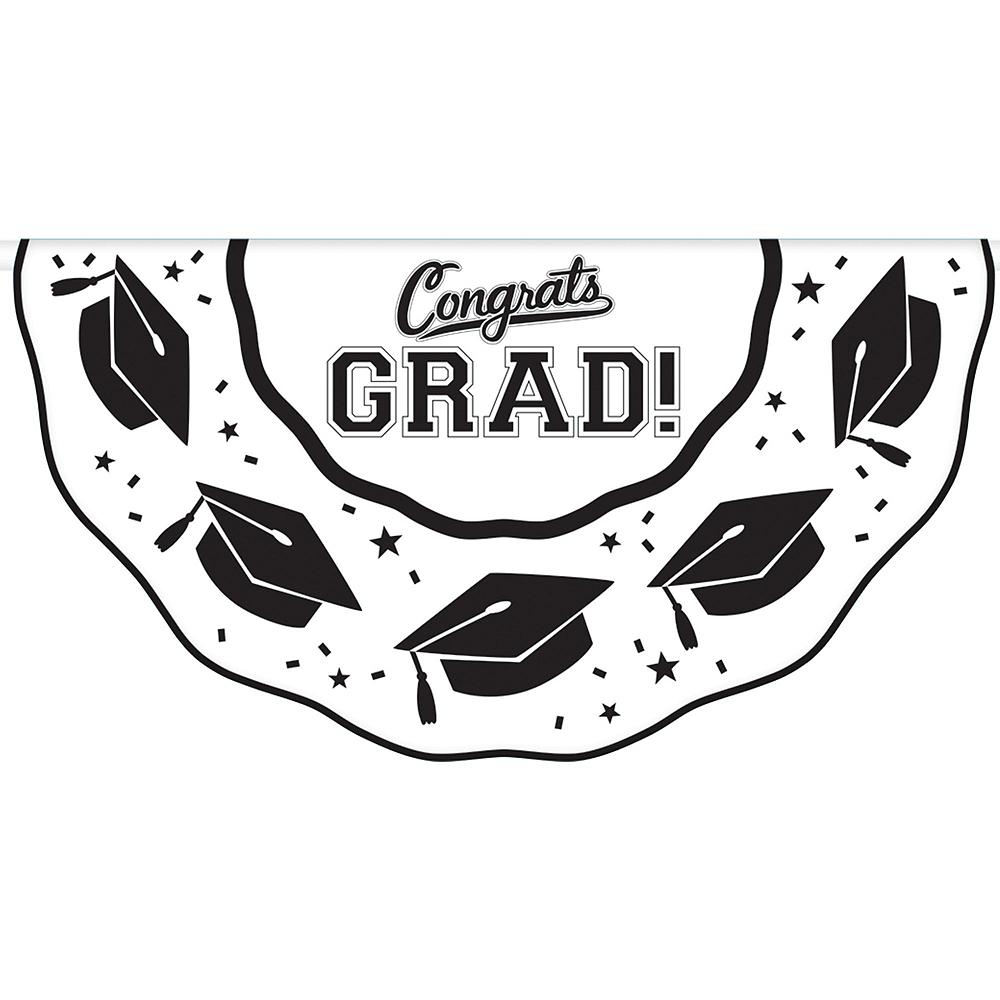 Congrats Grad White Graduation Outdoor Decorations Kit Image #3