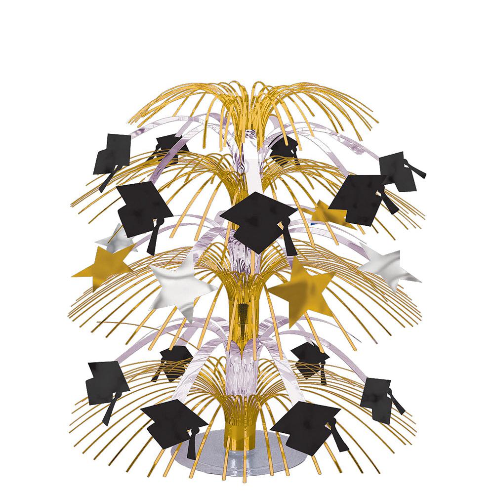 Congrats Grad Gold Graduation Tableware Kit for 18 Guests Image #8