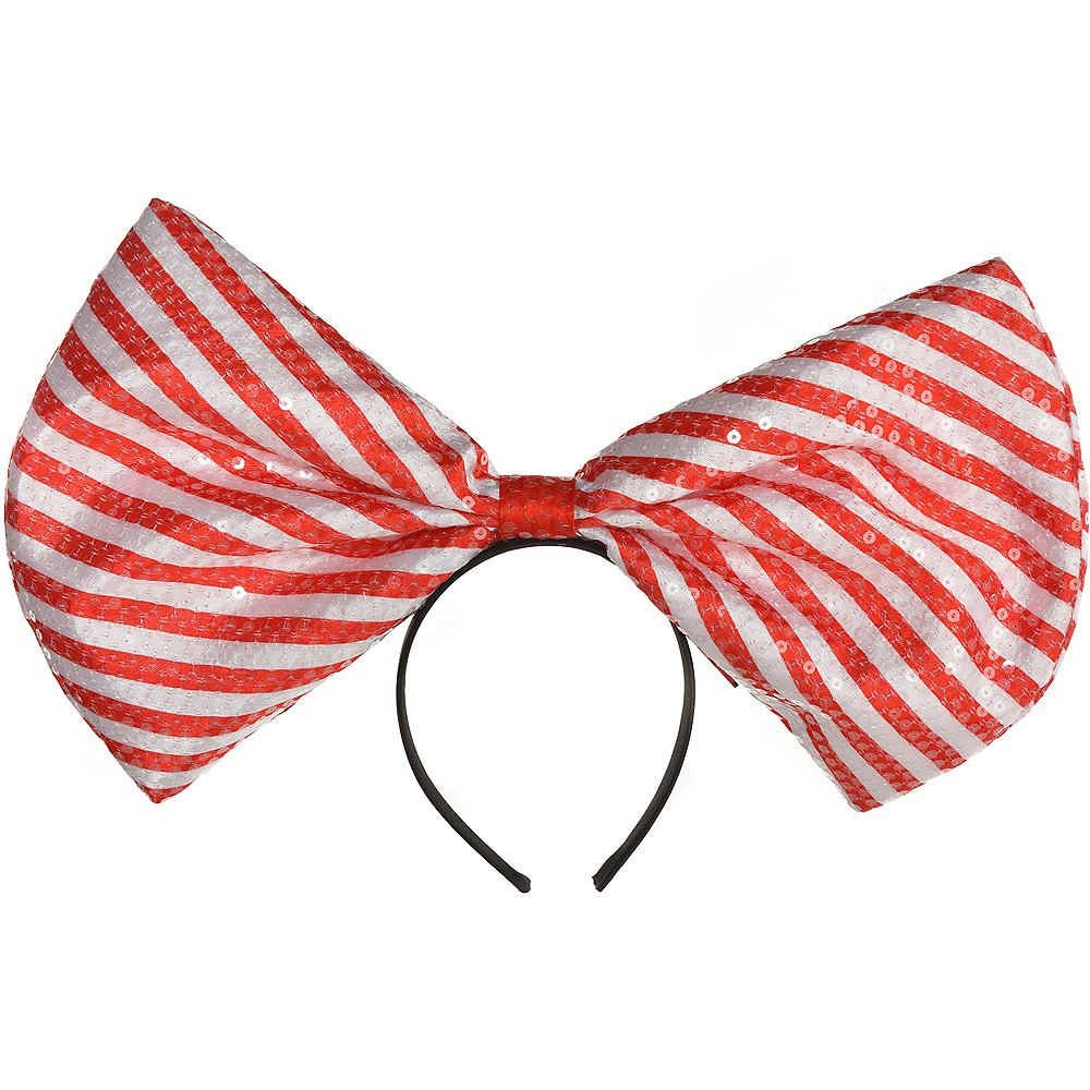 Red & White Bow Headband Image #1
