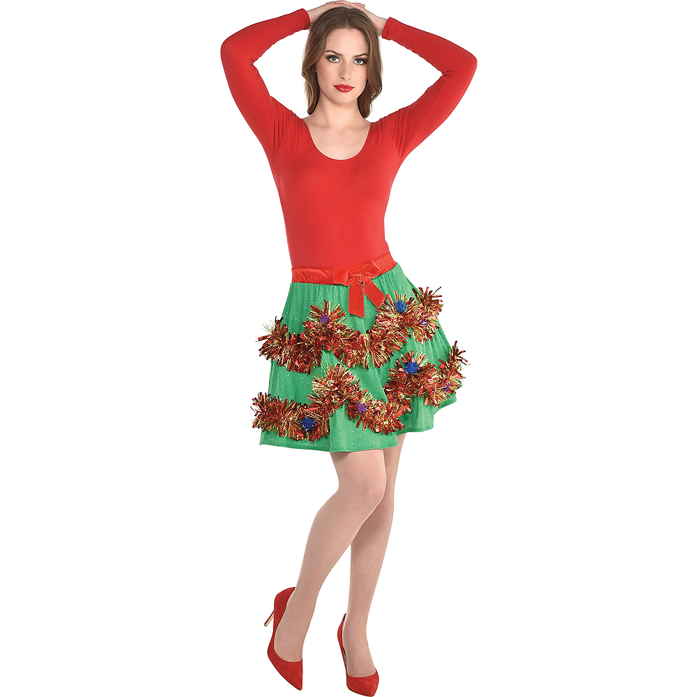 Tinsel Christmas Skirt Image #1