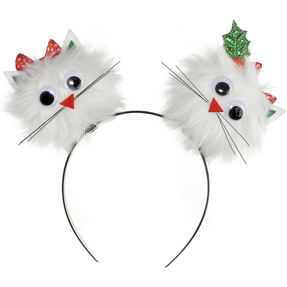 Child Christmas Cat Pom-Pom Headband Image #1