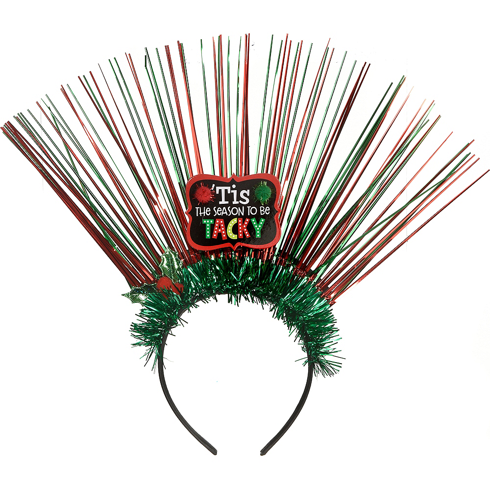 Tinsel Tacky Christmas Headband Image #1