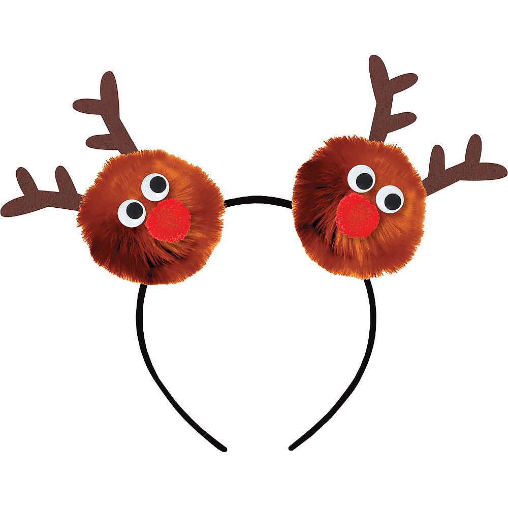 Child Reindeer Pom-Pom Headband Image #1