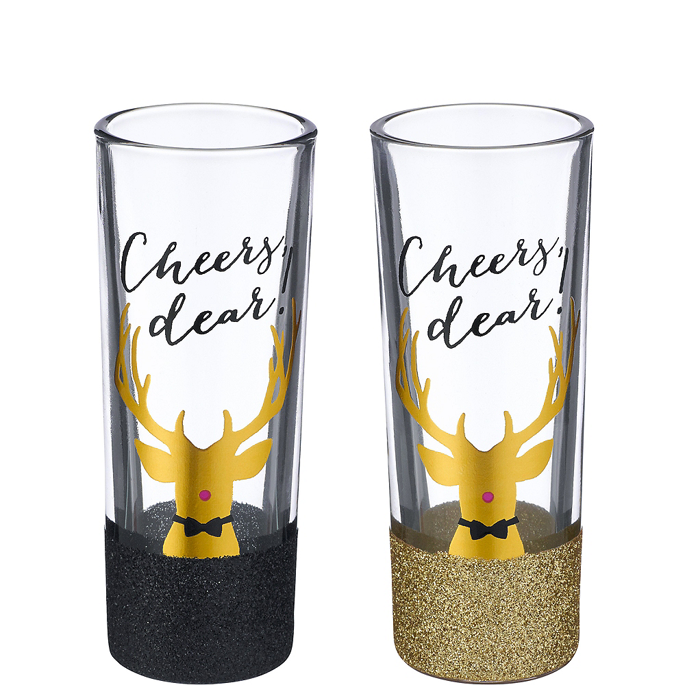 Cheers Dear Shot Glasses 4ct Image #1