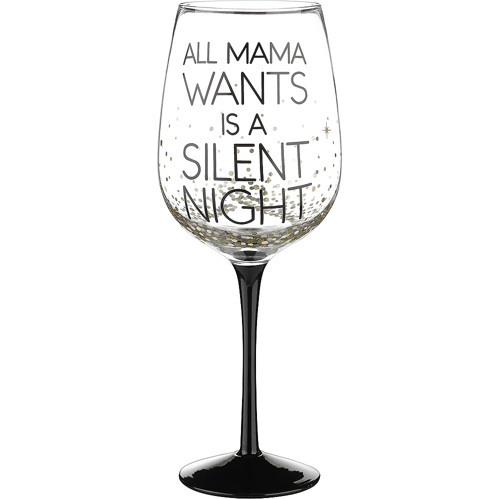 Jumbo Silent Night Wine Glass Image #1