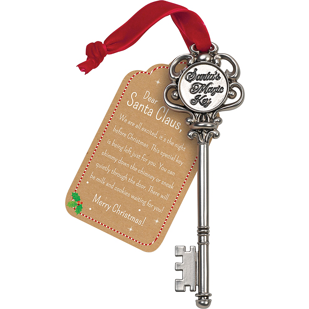 July. Children kid Magic Santa Key With Personalised Letter From Santa