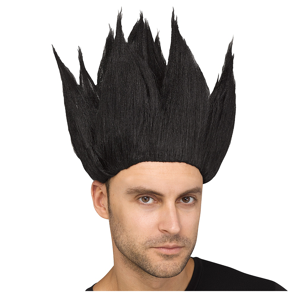 Nav Item for Black Anime Wig Image #1