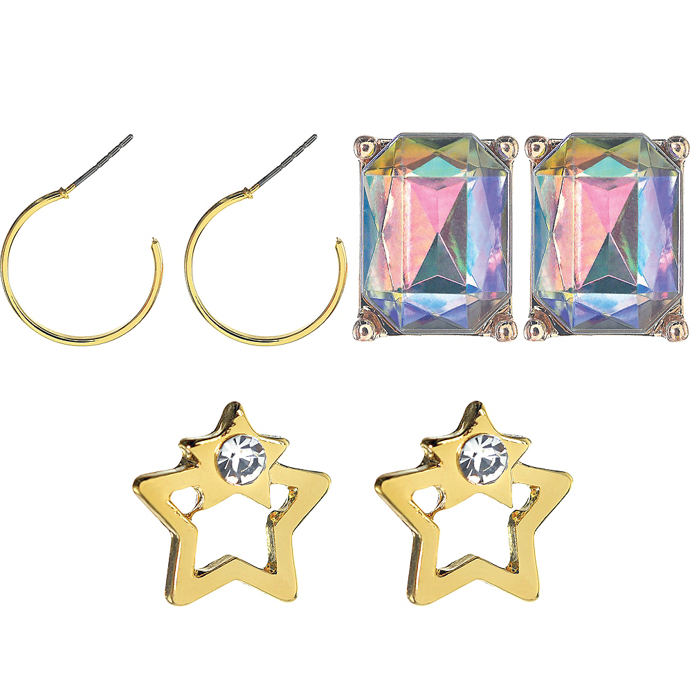 New Year's Eve Gold Earring Set 6pc Image #1