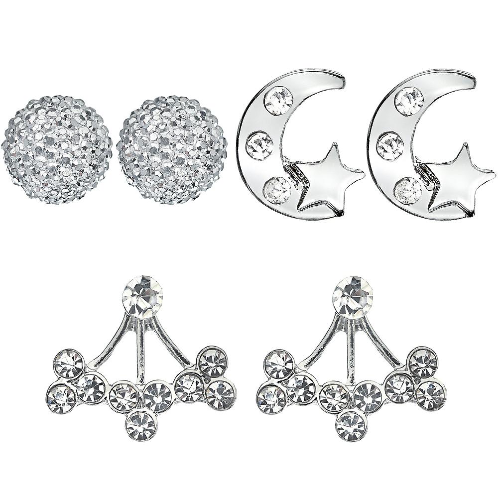 New Year's Eve Silver Earring Set 6pc Image #1