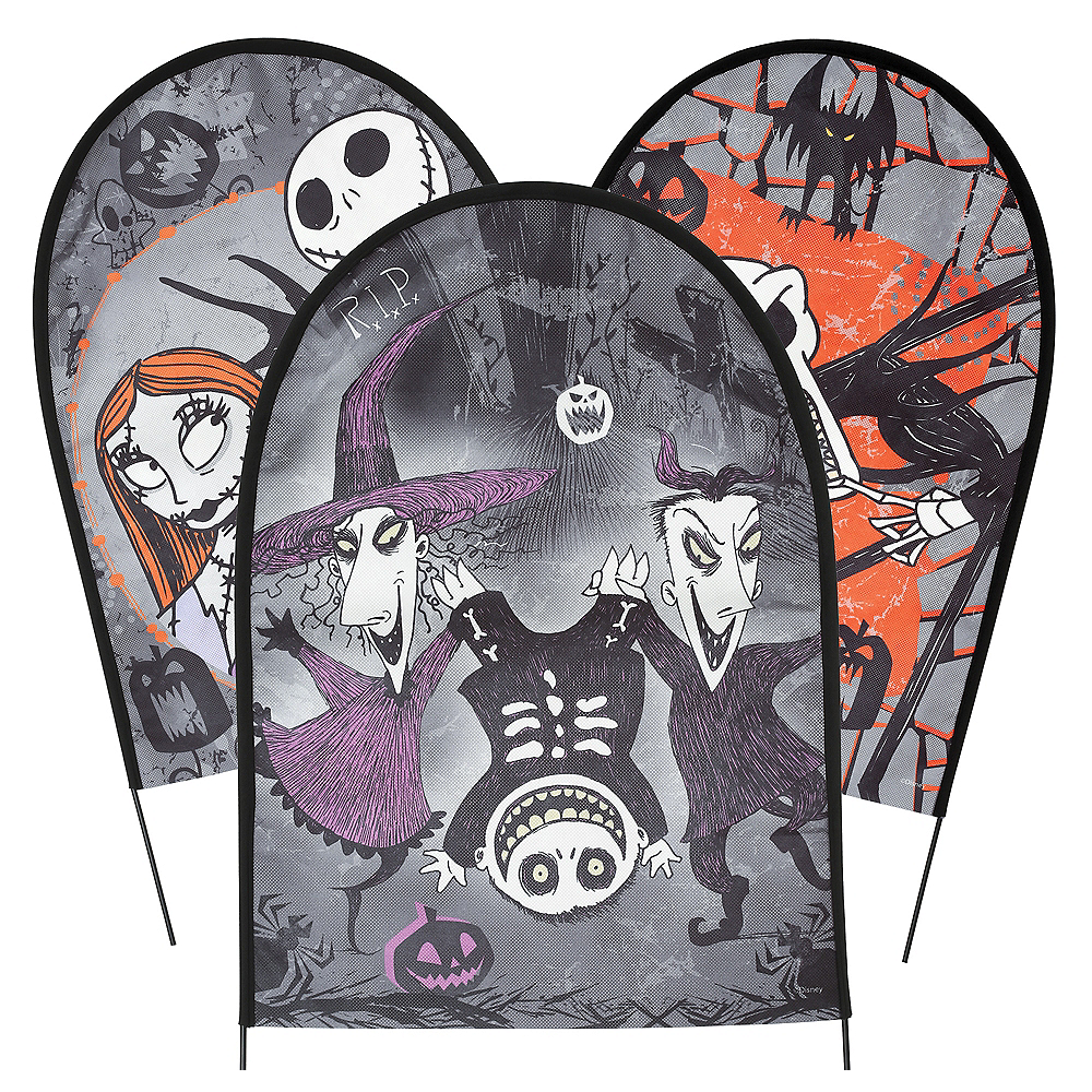 the nightmare before christmas tombstone set 3ct image 1 - Nightmare Before Christmas Halloween Decorations For Sale
