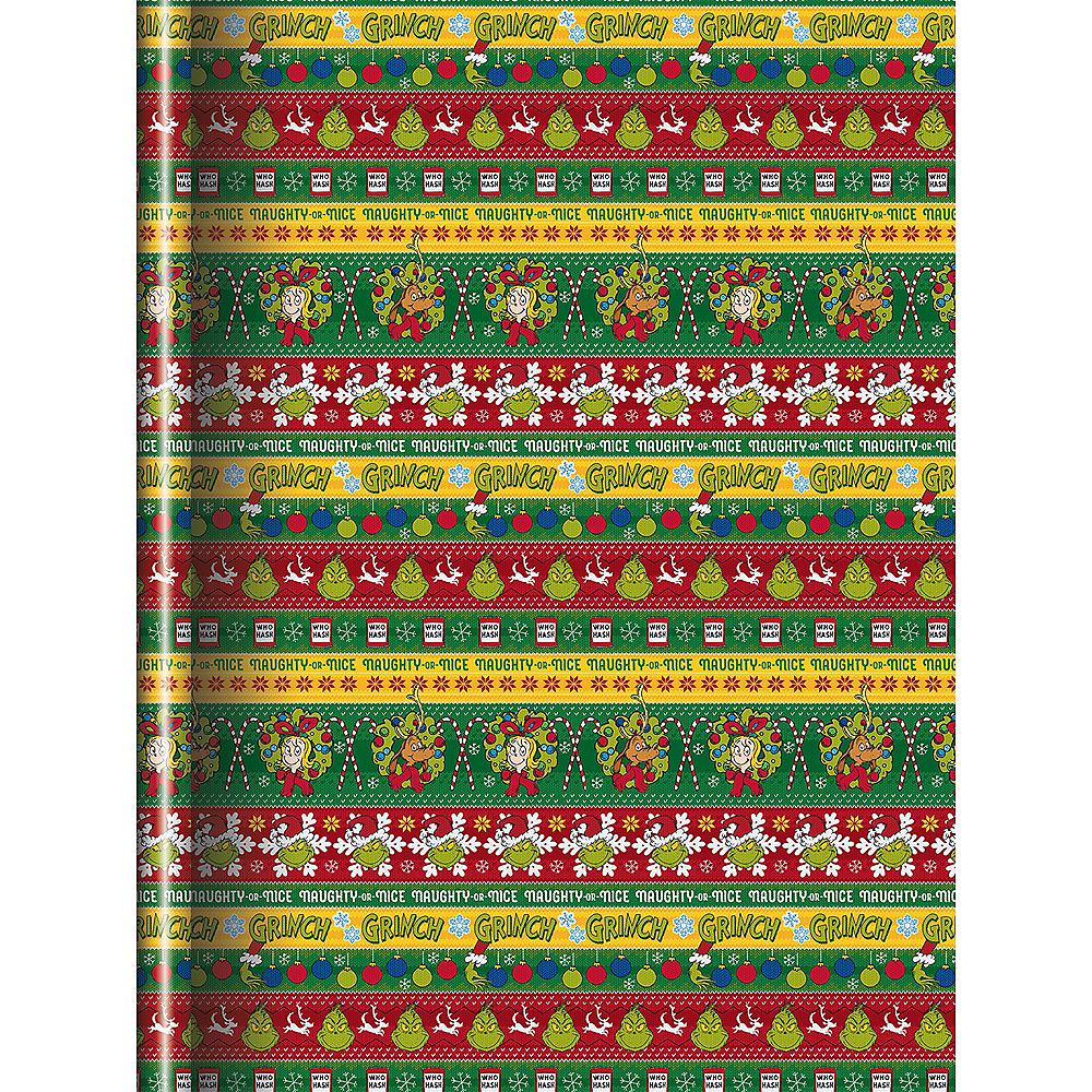 Naughty or Nice Grinch Wrapping Paper | Party City