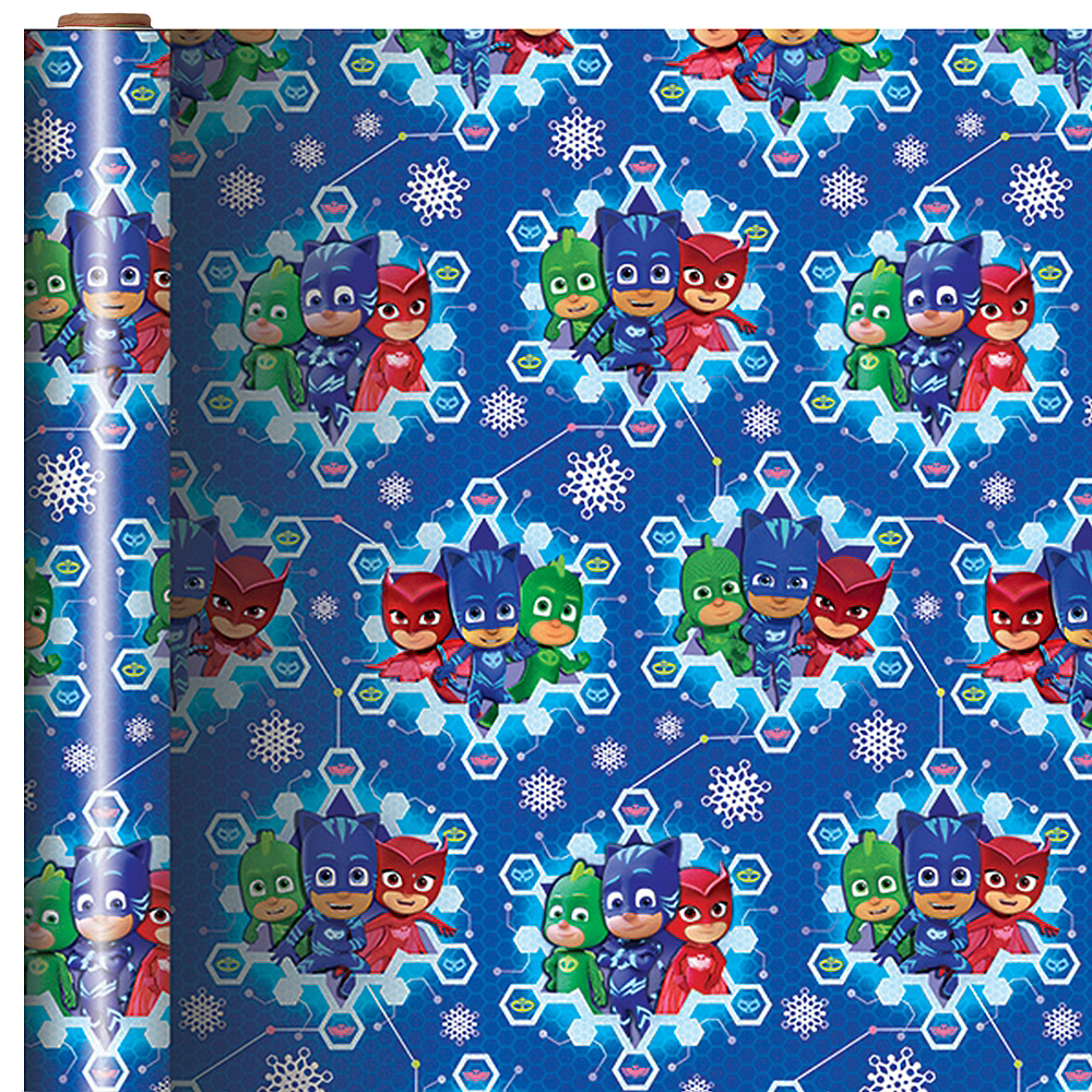 PJ Masks Gift Snowflake Wrap 9ft x 40in | Party City