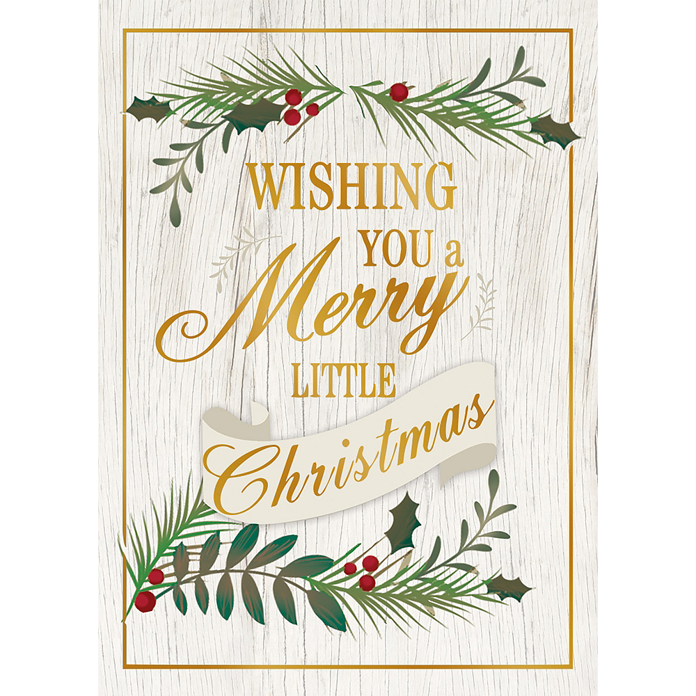 Rustic Merry Christmas Holiday Cards 16ct | Party City