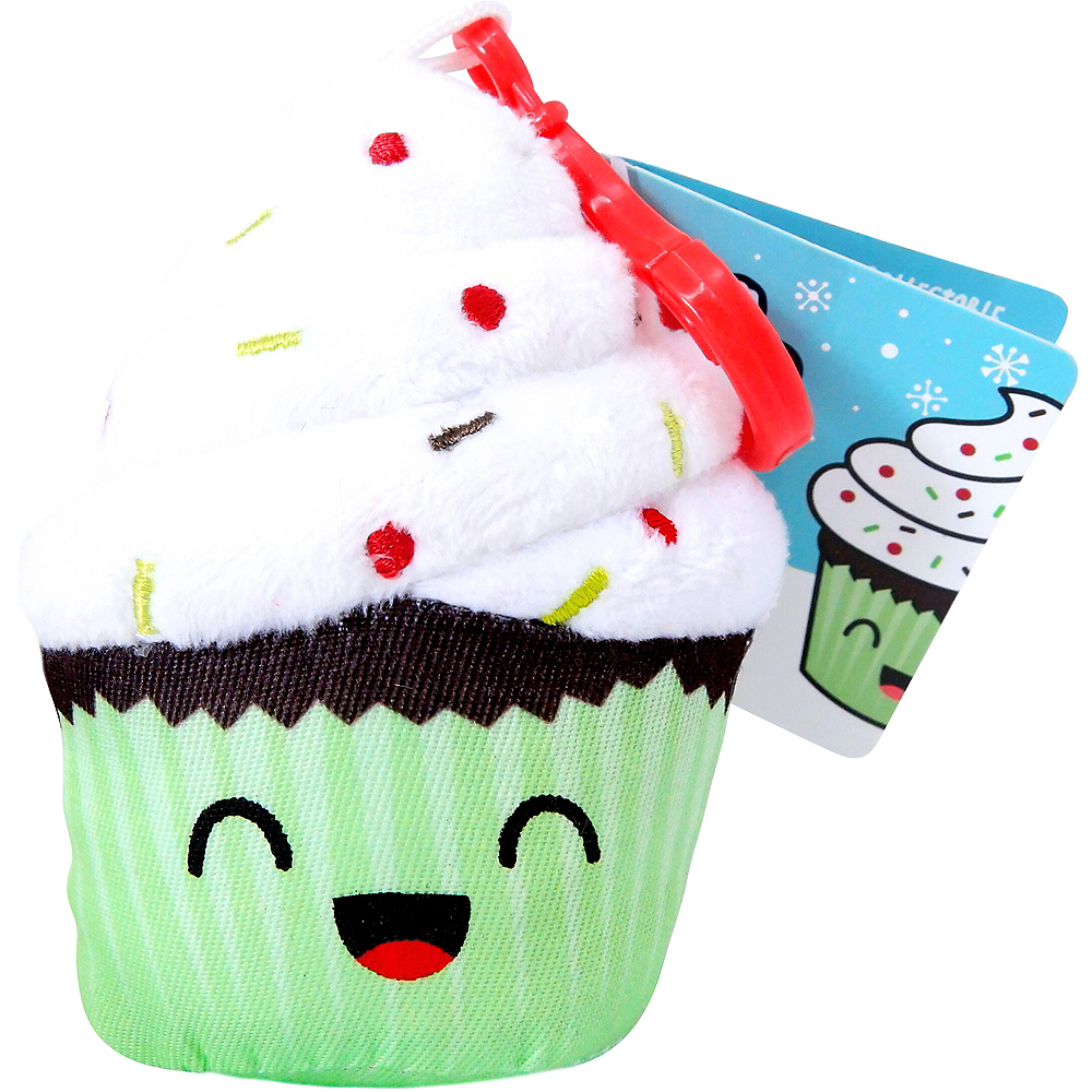Clip-On Chocolate Cupcake-Scented Backpack Buddies Plush Image #1