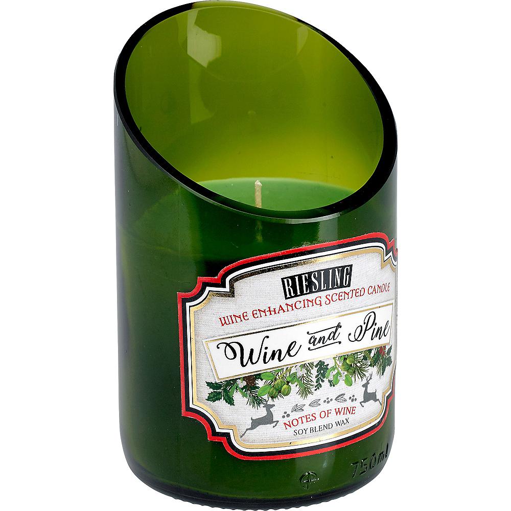 Wine & Pine Wine Bottle Candle Image #1