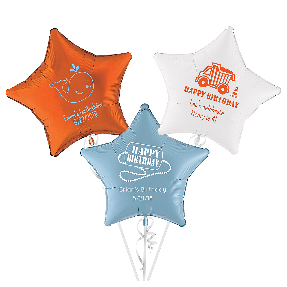 Personalized Boys Birthday Star Balloon Image #1
