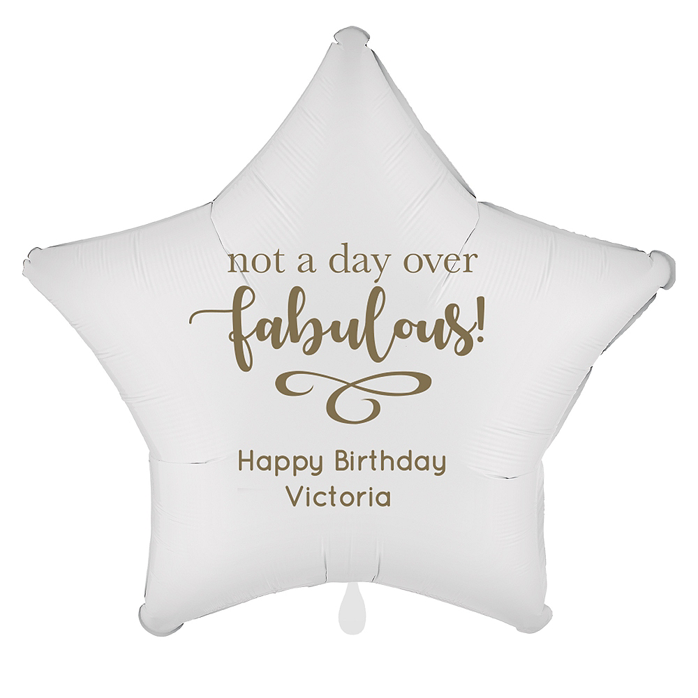 Personalized Milestone Star Balloon Image #1