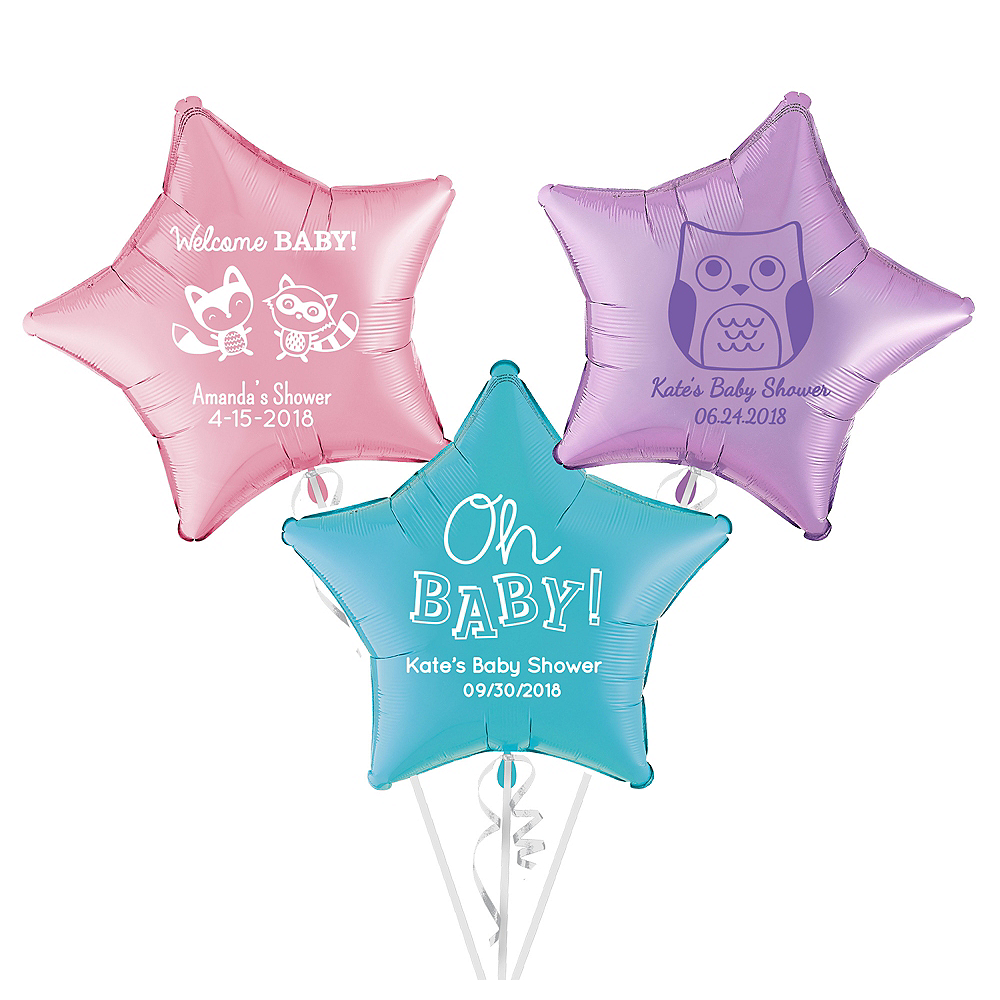Personalized Baby Shower Star Balloon Image #1