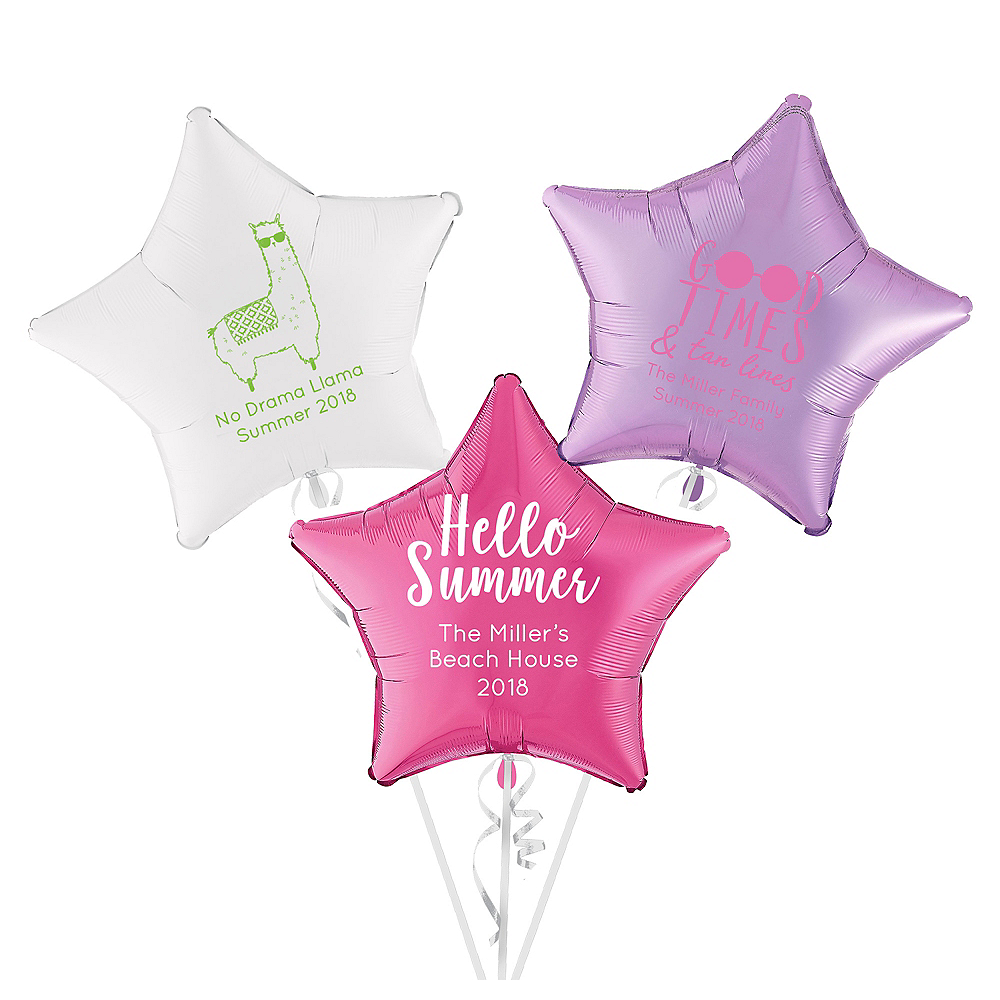Personalized Summer Star Balloon Image #1