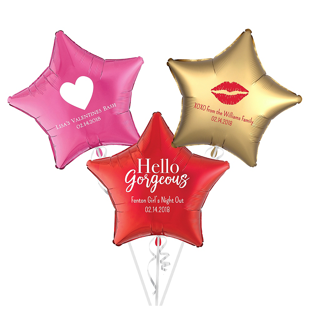 Personalized Valentine's Day Star Balloon Image #1