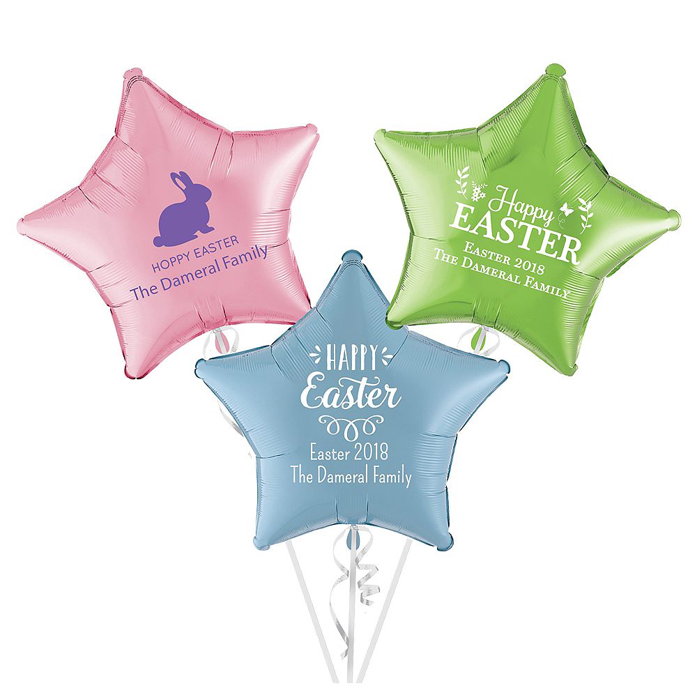 Personalized Easter Star Balloon Image #1