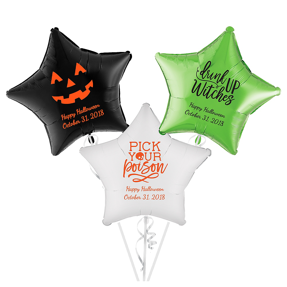 Personalized Halloween Star Balloon Image #1