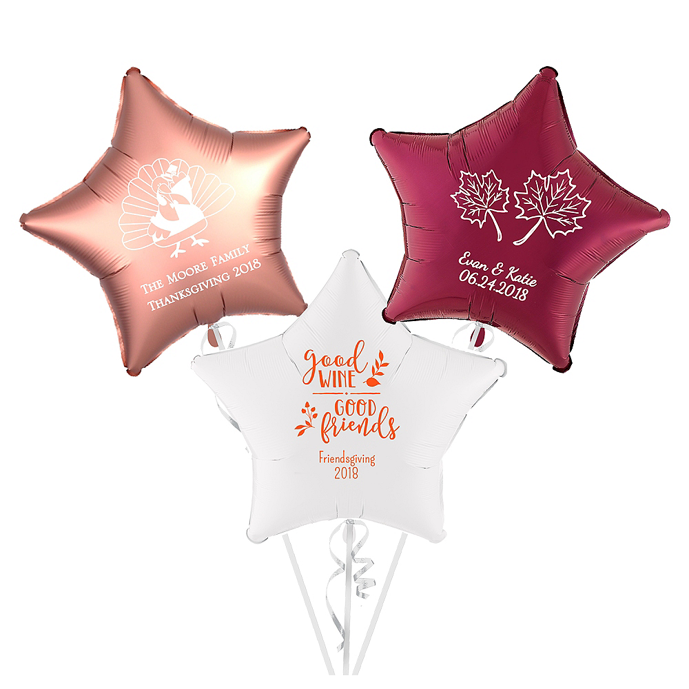 Personalized Thanksgiving Star Balloon Image #1