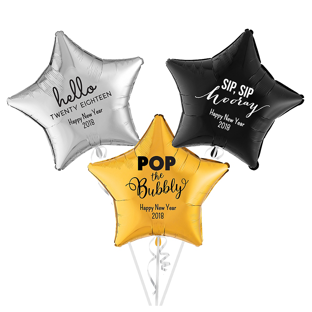Personalized New Year's Star Balloon Image #1