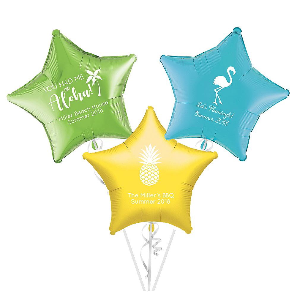 Personalized Luau Star Balloon Image #1