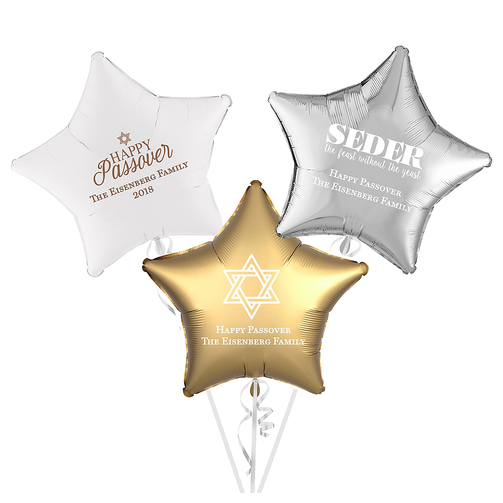 Personalized Passover Star Balloon Image #1