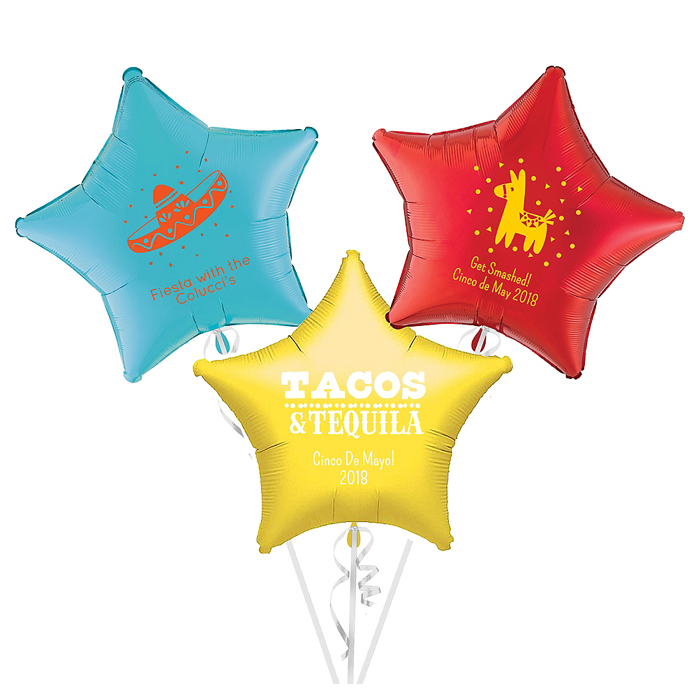 Personalized Cinco de Mayo Star Balloon Image #1