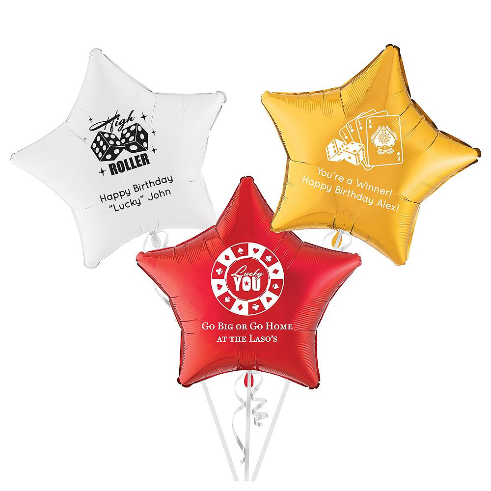 Personalized Casino Star Balloon Image #1
