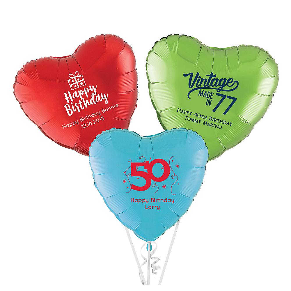 Personalized Milestone Heart Balloon Image #1