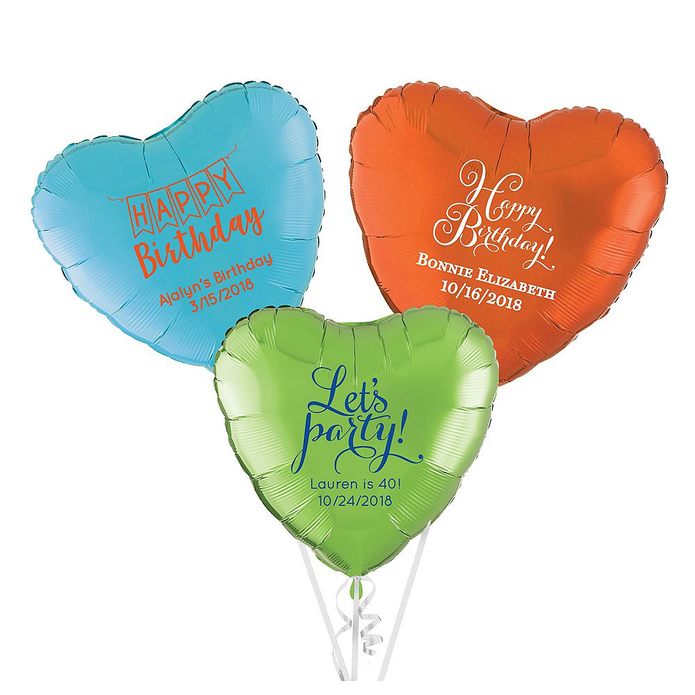 Personalized Happy Birthday Heart Balloon Image #1