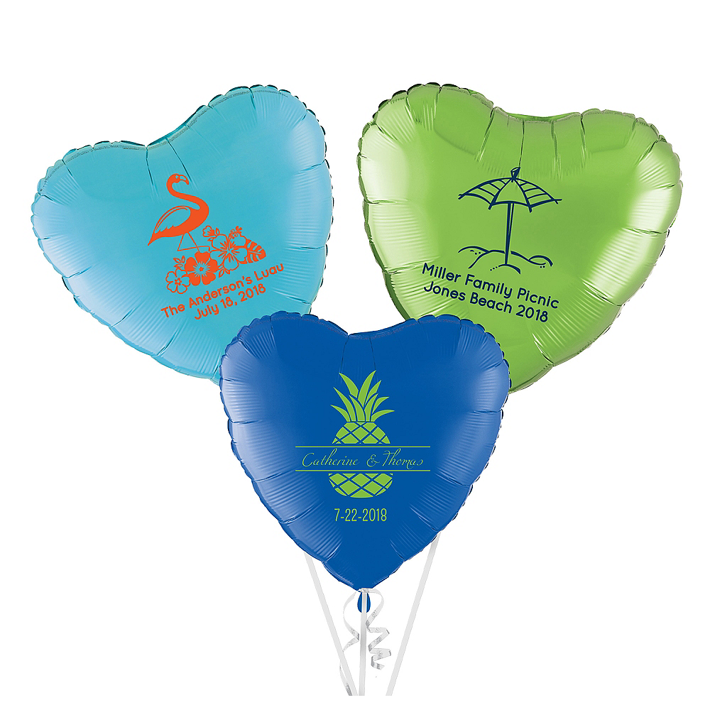 Personalized Summer Heart Balloon Image #1