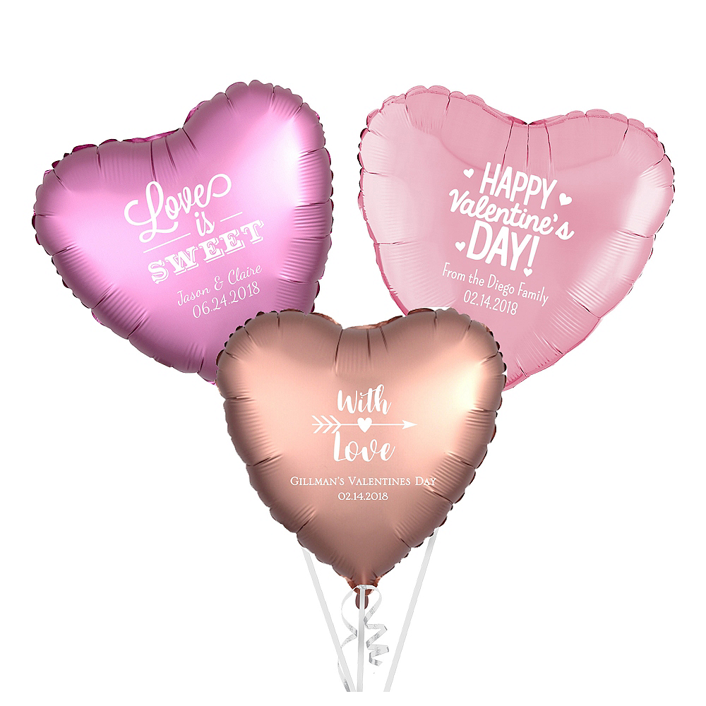 Personalized Valentine's Day Heart Balloon Image #1