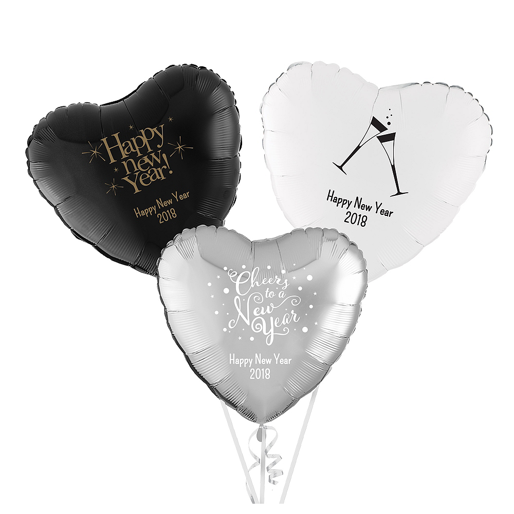 Personalized New Year's Heart Balloon Image #1