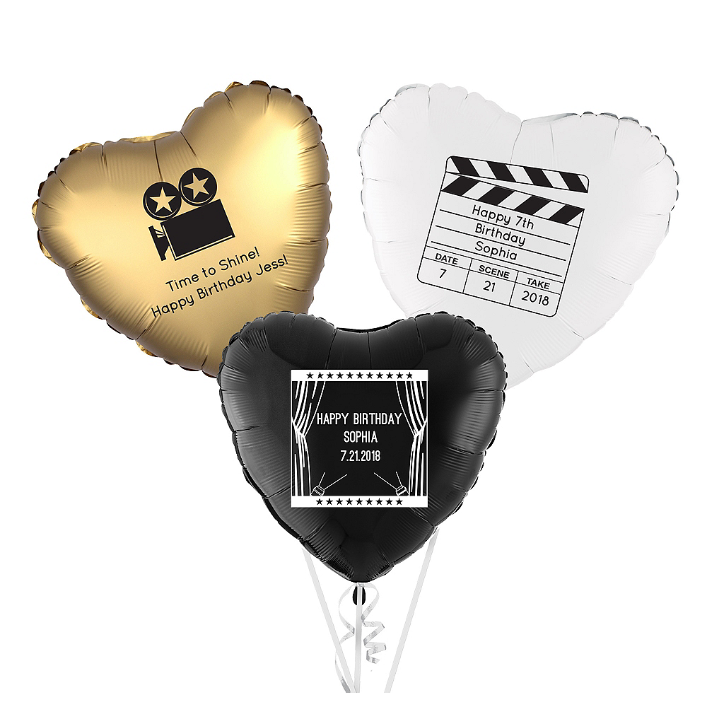 Personalized Hollywood Heart Balloon Image #1