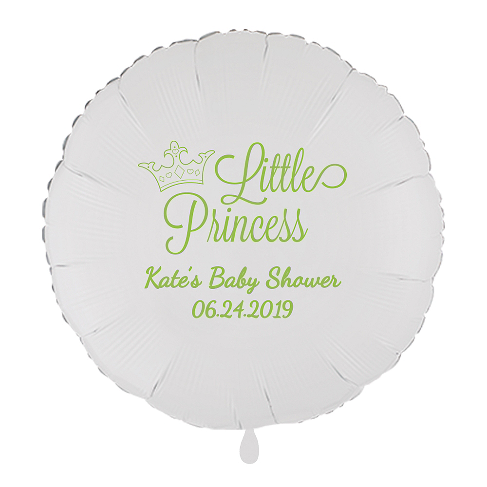 Personalized Baby Shower Round Balloon Image #1