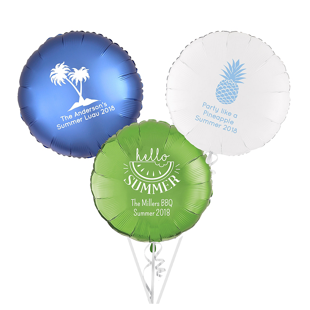 Personalized Summer Round Balloon Image #1