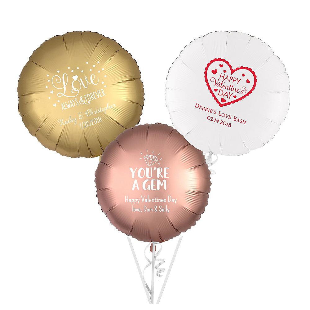 Personalized Valentine's Day Round Balloon Image #1